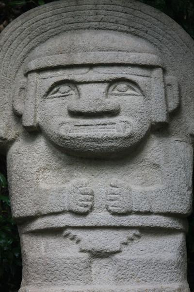 Close-up of statue in the Forest of Statues | Archeological Park San Agustín | Colombia