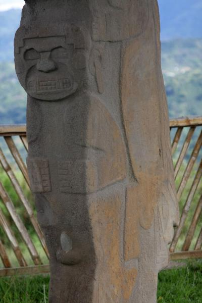 Close-up of statue on the Alto de Lavapatas at San Agustín | Archeological Park San Agustín | Colombia
