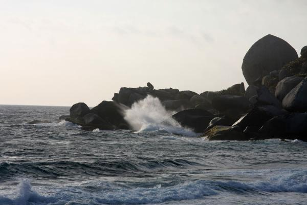 Waves crashing against the boulders near Cabo San Juan de la Guía | Parque Nacional Tayrona | Colombia
