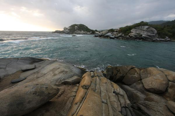Picture of Early morning with dark clouds over Parque Nacional Tayrona