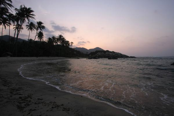 Sunset over beach of Cabo San Juan de la Guía | Parque Nacional Tayrona | Colombia