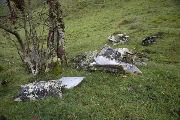 Wreckage of helicopter downed by Farc in the 1960s | Chemin de paix vers Marquetalia | Colombie