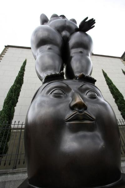 Naked woman on top of a head on Botero Square | Plaza Botero | Colombia