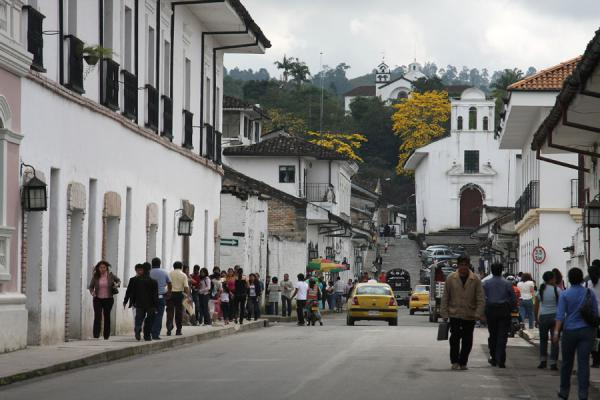 Calle 5 leading to La Ermita church | Popayán | Colombia