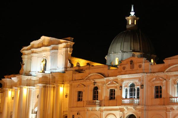 Picture of Night time view of the Cathedral of Popayán