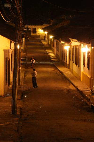 Street lighted in the evening | Popayán | Colombia