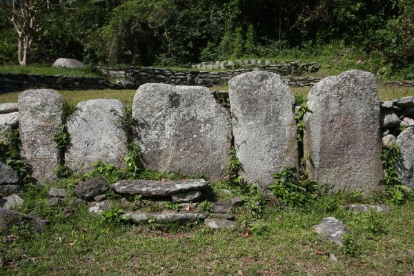 Slabs of stone defining one of the terraces of Pueblito | Pueblito Chairama ruins | Colombia