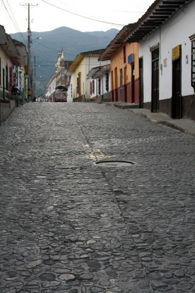 One of the streets of Santa Fé de Antioquia with cobble stones | Santa Fé de Antioquia | Colombia