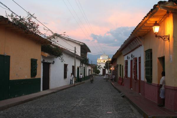 Picture of Sunset on the main street of Santa Fé de Antioquia
