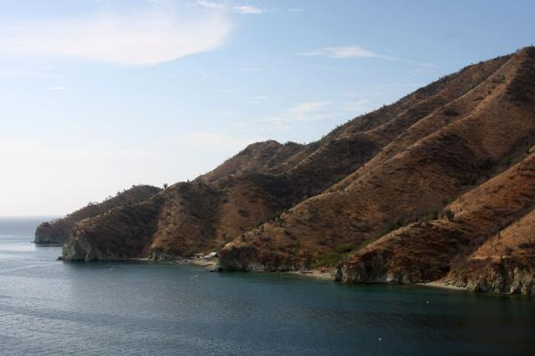 Picture of Taganga (Colombia): Moutains and shore near Taganga