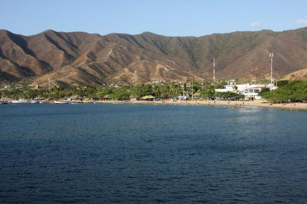 Picture of Taganga (Colombia): Fishing village of Taganga seen from a distance