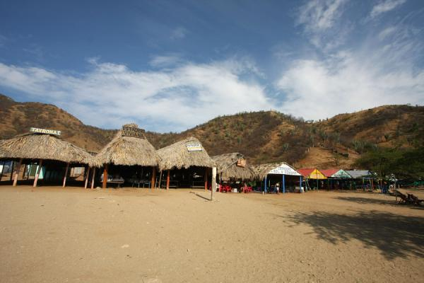 Beach stalls on a beach near Taganga | Taganga | Colombia