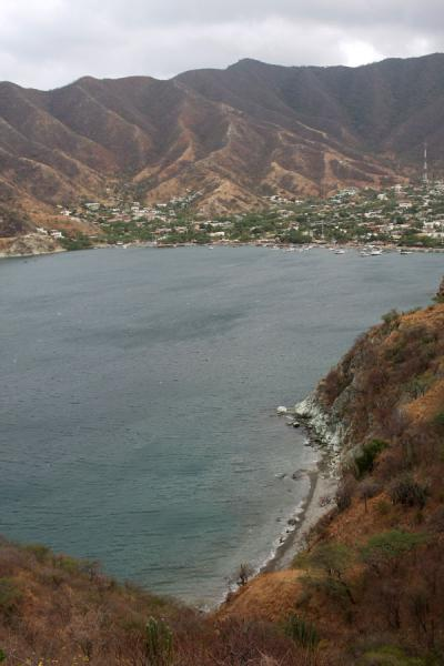 Picture of Taganga (Colombia): Taganga seen from the Santa Marta road