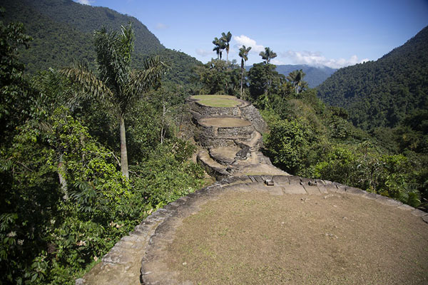 View of the upper part of Ciudad Perdida, which had the most important buildings | Teyuna | Colombia