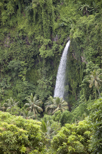 Waterfall under Hombo, emptying in Mutsamudu river | Hombo hike | Comoros