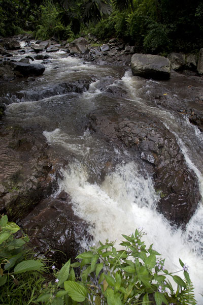 Picture of Small waterfall in the Mutsamudu river, just up from townHombo - Comoros