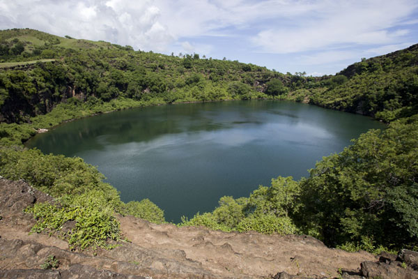 The volcanic lake of Lac Salé | Lac Salé | Comoros