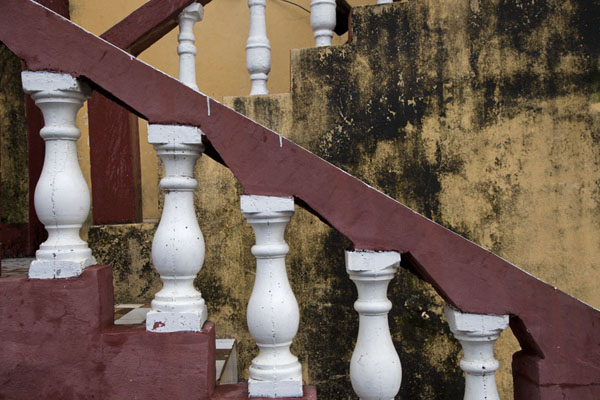 Picture of Detail of stairs on a building in the medina of MutsamuduMutsamudu - Comoros