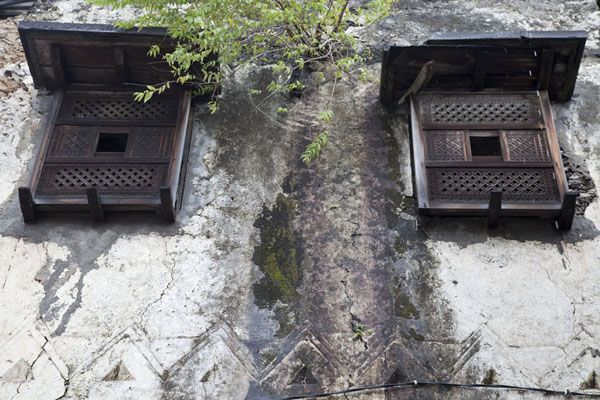 Wooden windows in a traditional house in the medina of Mutsamudu | Mutsamudu medina | Comoros