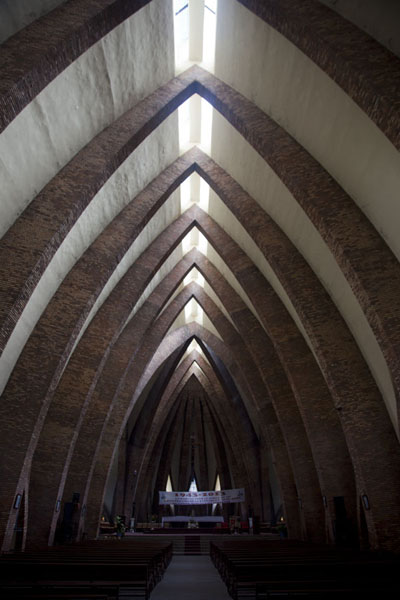 Foto di Interior view of the basilica of Saint AnneBrazzaville - Repubblica del Congo