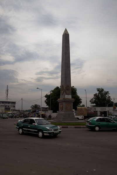 Picture of Round Point Moungali with obelisk in the middle