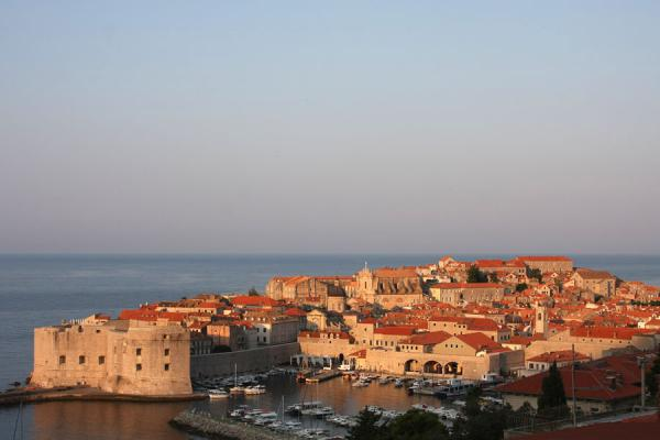 Foto van Early morning view over DubrovnikDubrovnik - Kroatië