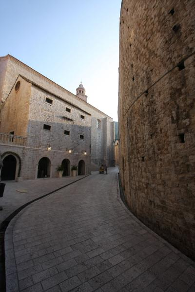 Marble street running parallel to the city wall | Dubrovnik | Croatia