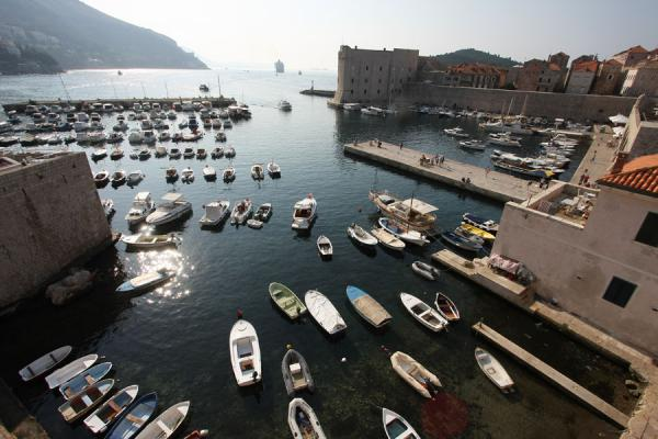 Picture of Boats in the harbour of Dubrovnik