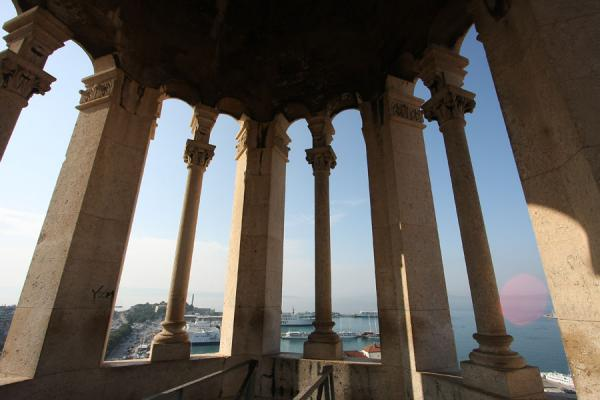 View over the port of Split from inside the bell-tower | Palazzo di Diocleziano | Croazia