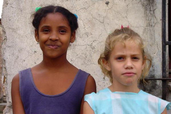 Picture of Cuban people (Cuba): Cuban girls in a street