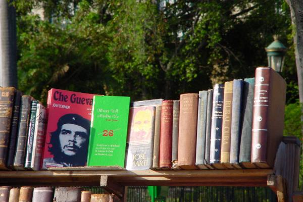 Picture of Some of his books for sale on Plaza de Armas in HavanaCuba - Cuba