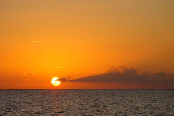 Picture of María La Gorda (Cuba): Sunset over sea at Maria la Gorda
