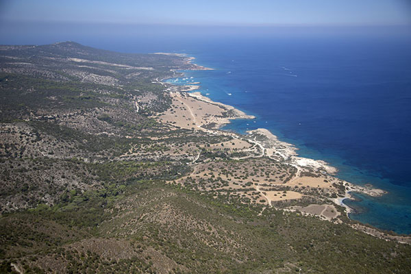 View of Akamas peninsula from the top of Moutti tis Sotiras, its highest point - 塞浦路斯