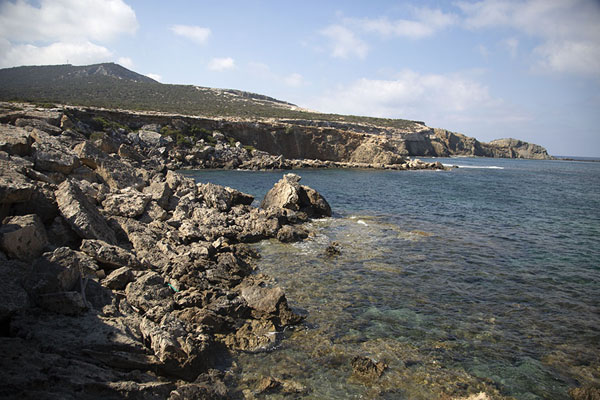 Foto van The rugged coast at the far north of Akamas peninsulaAkamas - Cyprus