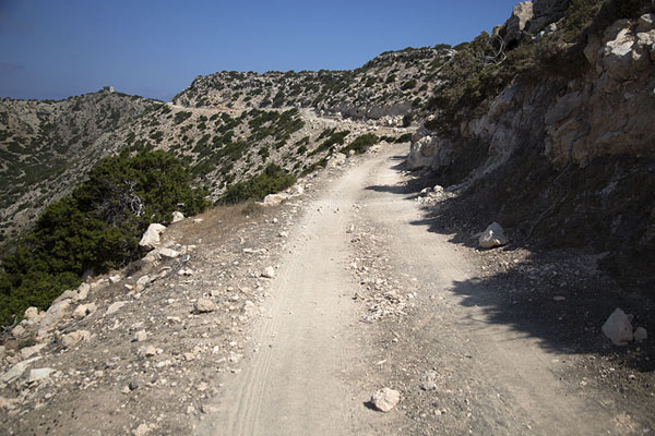 Foto van The rocky track near Akamas lighthouseAkamas - Cyprus