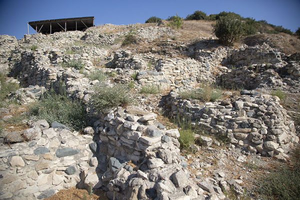 Looking up the hill against which Choirokoitia was built | Choirokoitia | Cyprus