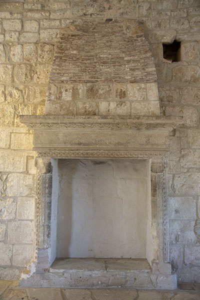 Picture of One of the fireplaces on the second floor of Kolossi Castle