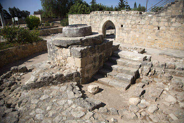 The ruins of the well of Kolossi Castle | Chateau de Kolossi | Chypre