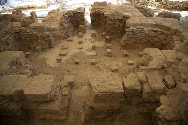 Ruins of a public bath in the house of Eustolios | Kourion | Chipre