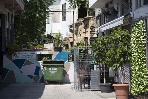 Street barricaded in Nicosia | Nicosia Green Line | Cyprus