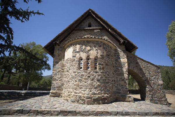 Exterior of Panagia Phorviotissa, south of Nikitari | Painted churches Troodos region | Cyprus