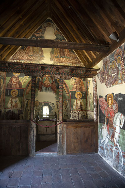Interior of the Archangel Michael church in Pedoulas | Painted churches Troodos region | Cyprus