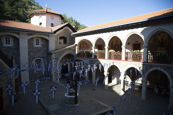 Courtyard of the monastery of Kykkos | Painted churches Troodos region | Cyprus