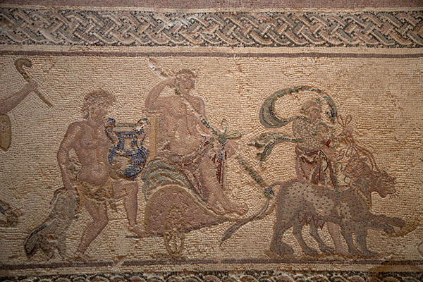 Picture of Detail of a mosaic in the House of DionysosPaphos - Cyprus