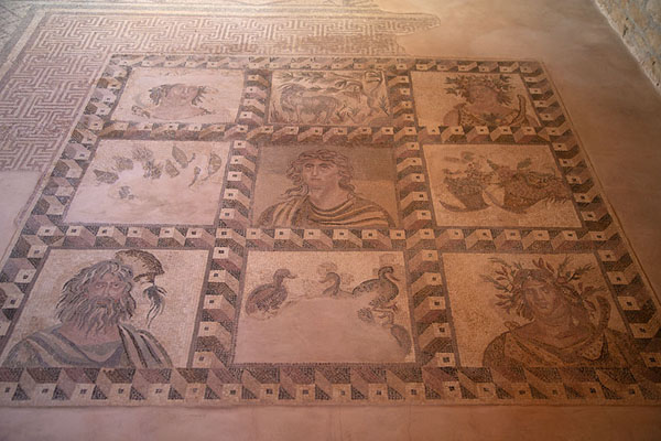 Foto van Mosaic in the House of Dionysos: the Four SeasonsPafos - Cyprus