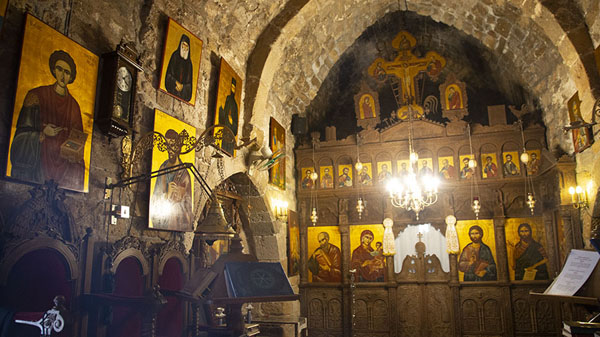 Interior of the church of the monastery | Monastery of Saint Nicholas of the Cats | Chypre