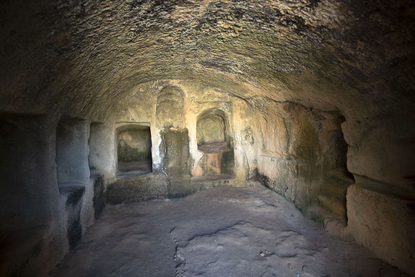 Burial chamber in Tomb VII | Tombs of the Kings | Cyprus