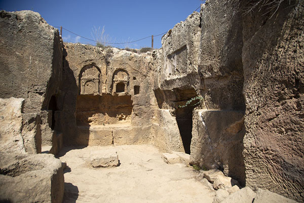 The exterior of Tomb II | Tombs of the Kings | Cyprus