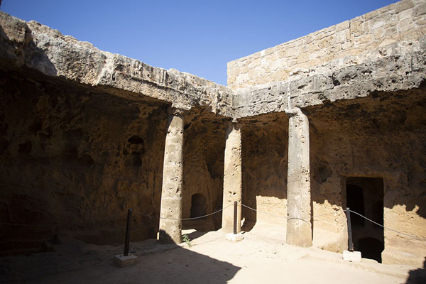 Corner in the main atrium of Tomb IV | Tombs of the Kings | Cyprus