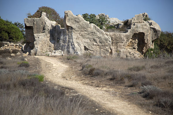 Tomb number IX is a more rugged affair | Tombs of the Kings | Cyprus